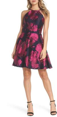 Xscape Evenings Floral Brocade Fit & Flare Dress