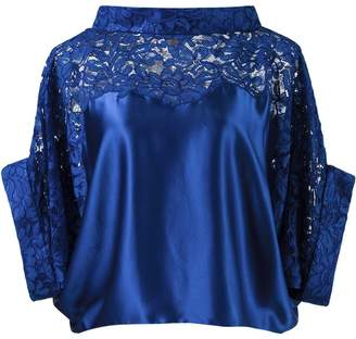 Martha Medeiros lace panel crop blouse