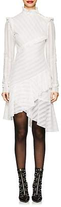 Philosophy di Lorenzo Serafini Women's Ruffle-Trimmed Cotton-Blend Lace Dress