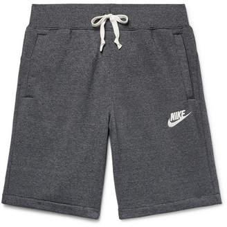 Nike Sportswear Heritage Mélange Loopback Cotton-Blend Jersey Shorts