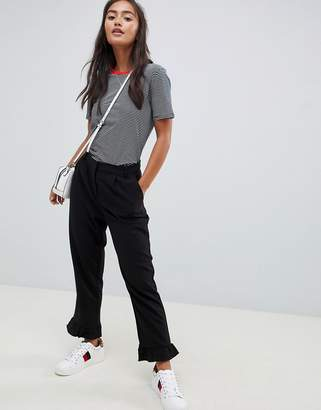 Only Michelle frill hem trousers