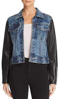 Rag & Bone Nico Denim & Leather Jacket
