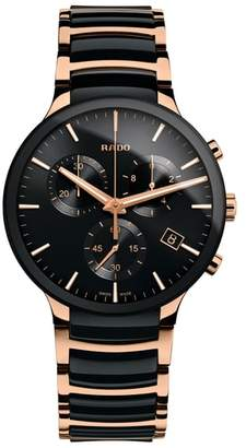 Rado Centrix Chronograph Ceramic Bracelet Watch, 40mm