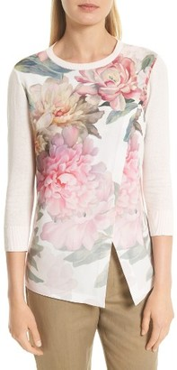 Women's Ted Baker London Indii Painted Posie Sweater $195 thestylecure.com