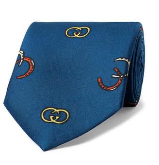 Gucci 8cm Printed Silk-Twill Tie