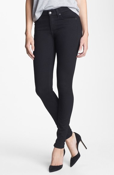 7 For All Mankind Stretch Skinny Jeans (Elasticity Black)