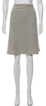 Les Prairies de Paris Embellished Knee-Length Skirt