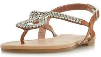 Dorothy Perkins Womens *Head Over Heels by Dune Kimmba Ladies Flat Sandals
