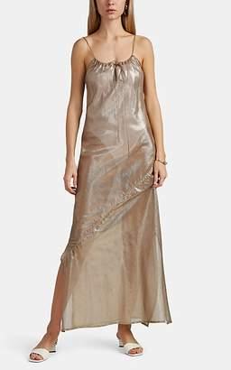 0fa7903b10 Lisa Marie Fernandez Women s Sheer Metallic Cotton-Blend Maxi Dress - Gold