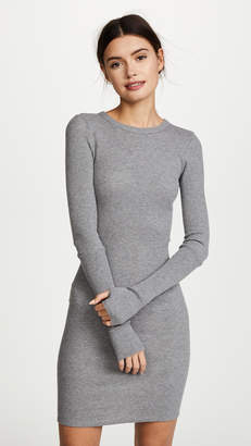 Enza Costa Cuffed Long Sleeve Mini Dress