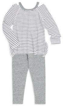 Splendid Baby Girl's Two-Piece Cotton-Blend Top& Leggings Set