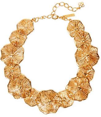 Oscar de la Renta Gold-plated Necklace