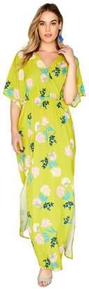 Girls On Film Desperado Floral Mock Wrap Maxi Dress