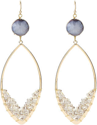Panacea Pannee By Gold-Tone & Grey Drop Earrings