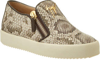 Giuseppe Zanotti Embossed Leather Slip-On Sneaker
