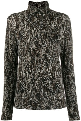 Stephan Schneider pine pattern knitted top