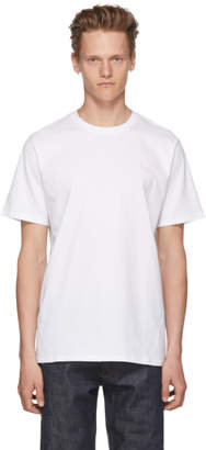 A.P.C. White and Pink Emeric T-Shirt