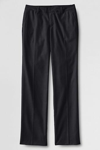 Lands' End Women's Plain Front Dress Pants