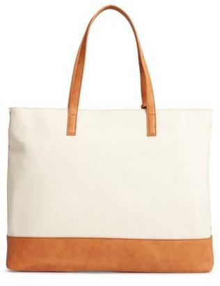 Sole Society Aurelai Colorblock Faux Leather Tote - Beige $64.95 thestylecure.com