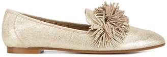 Aquazzura Gold Wild Leather loafers