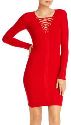 GUESS Selby Lace-Up Body-Con Dress