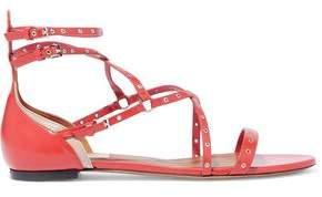 Valentino Love Latch Eyelet-embellished Leather Sandals