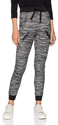 Urban Classic Women's Fitted Melange Zip Sweat Sports Pants,W26