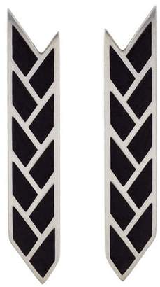Baltera Orisis Stix Earrings - Black Enamel