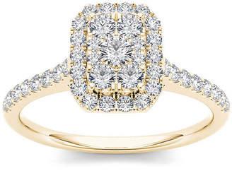 MODERN BRIDE 3/4 CT. T.W. Diamond 10K Yellow Gold Engagement Ring