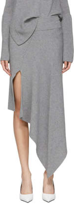 Stella McCartney Grey Wool Asymmetric Skirt