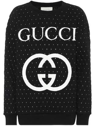 Gucci Embellished cotton sweater