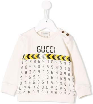 Gucci Kids digital number print sweatshirt