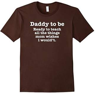Mens New Daddy To Be Funny Quote Slogan Saying T-shirt