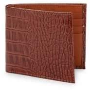 Abas Embossed Slim Leather Bi-Fold Wallet