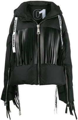 Khrisjoy fringed oversized puffer jacket