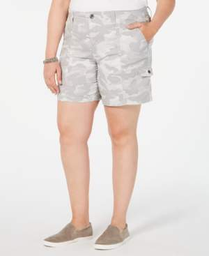 Style&Co. Style & Co Plus Size Camo-Print Cargo Shorts, Created for Macy's