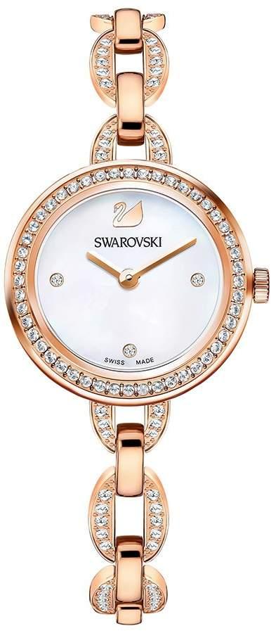 Aila Mini Watch, Metal bracelet, Rose gold tone