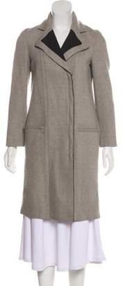 Helmut Lang Wool Knee-Length Coat Grey Wool Knee-Length Coat