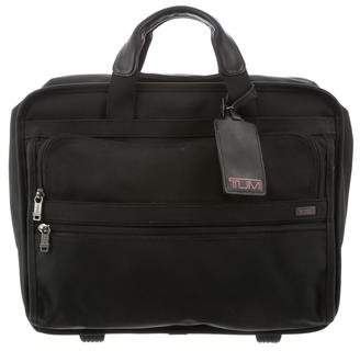 Tumi Leather-Trimmed Nylon Carry-On