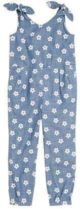 crewcuts Daisy Print Chambray Jumpsuit (Toddler Girls, Little Girls & Big Girls)