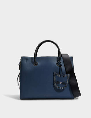 Karl Lagerfeld K/Karry All Shopper Bag in Deep Petrol Small Pebble Leather