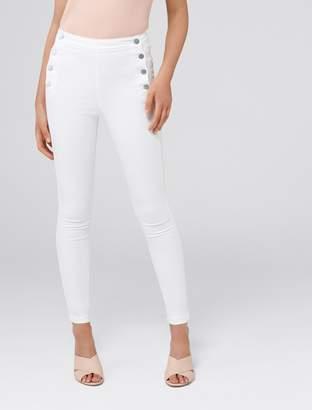 Forever New Heidi High-Rise Ankle Grazer Jeans - White - 4