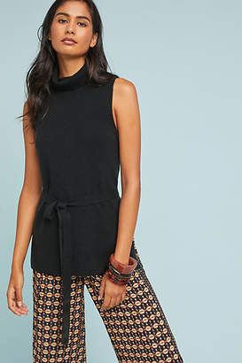 Anthropologie Belted Sleeveless Turtleneck