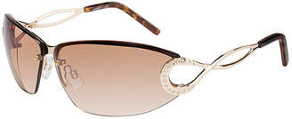 Rocawear Half Frame Round UV Protection Sunglasses-Womens