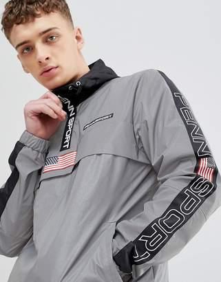 Penn Sport windbreaker hooded jacket in reflective