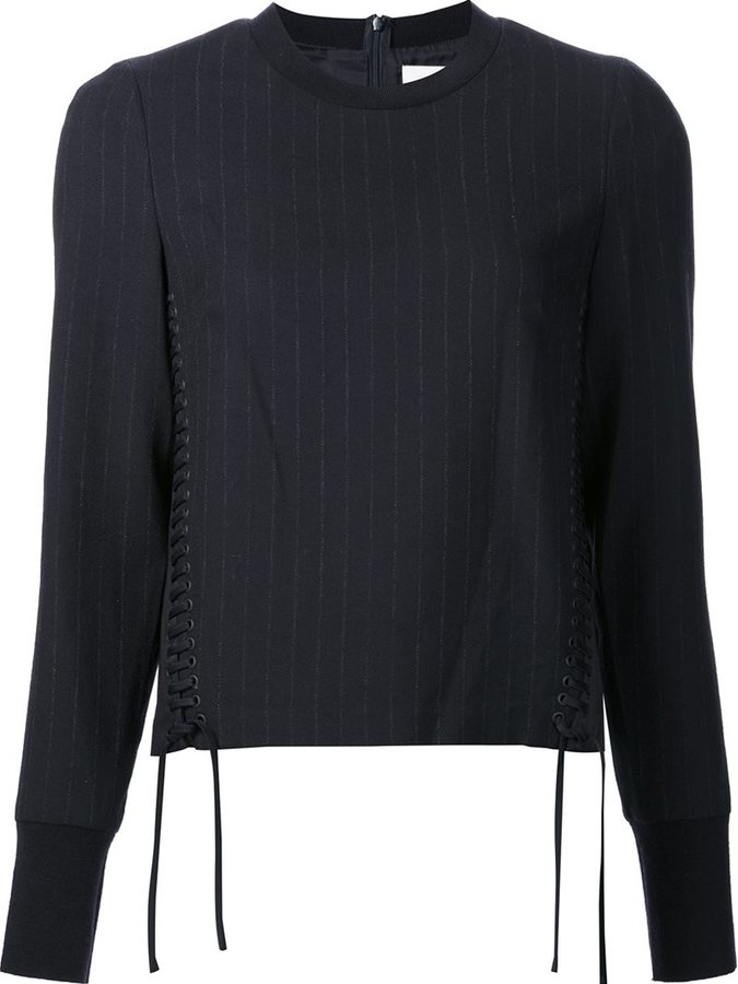 3.1 Phillip Lim 3.1 Phillip Lim corset-seamed pinstriped top