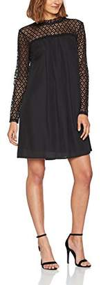 Elise Ryan Women's High Neck with Lace Upper Dress