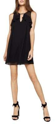 BCBGeneration Sleeveless Mixed Media Shift Dress