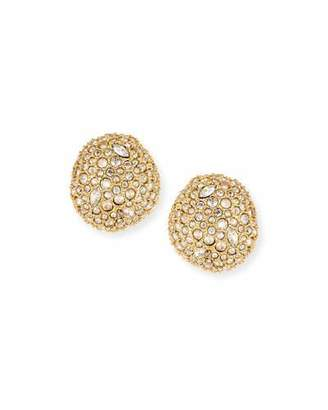 Alexis Bittar Pave Crystal Pod Button Earrings