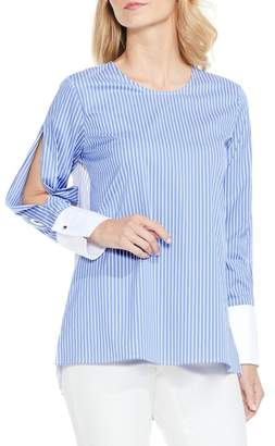 Vince Camuto Colorblock Stripe Slit Sleeve Shirt